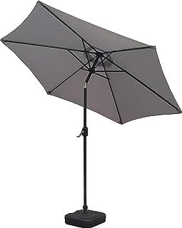 Schallen 2,7 m UV50 lutande parasoll parasoll med slingrande vev och lutningsfunktion för utomhusbruk, trädgård och utepla...