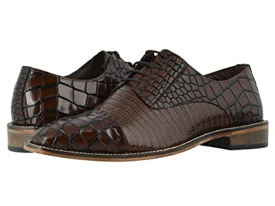 Stacy Adams Talarico Leather Sole Cap Toe Oxford (Cognac) Men