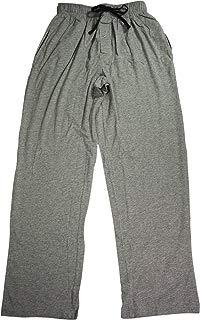 Hanes Men's Solid Knit Pant (Small, Grey/ Black)