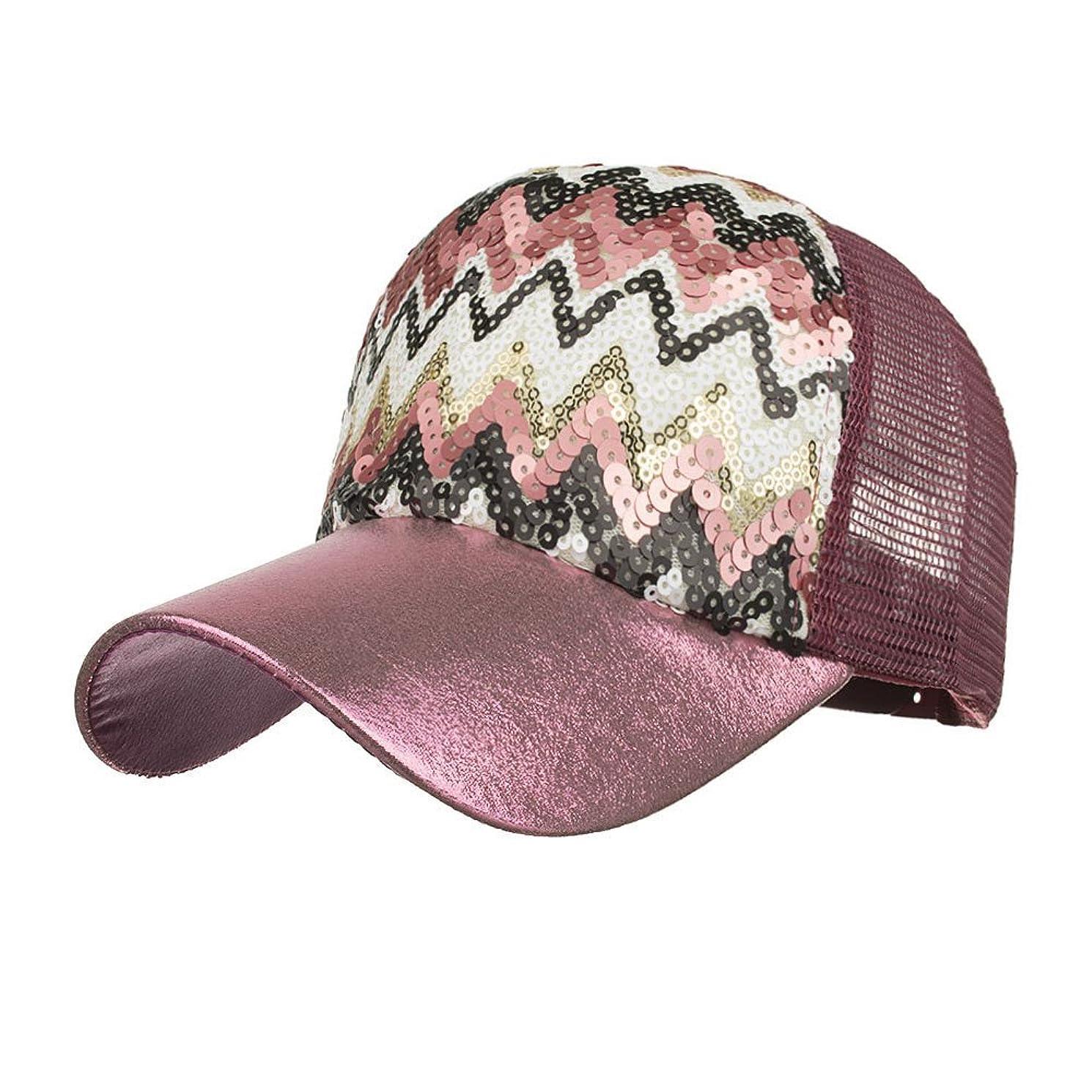 スリップ艶メディックRacazing Cap 輝く棒球帽 カラーマッチング 野球帽 ヒップホップ 通気性のある ラインストーン 帽子 夏 登山 アメリカの旗 可調整可能 男女兼用 UV 帽子 軽量 屋外 メッシュ Unisex Cap (紫の)