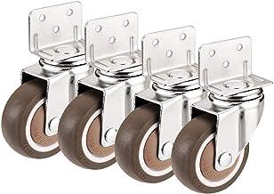Type L montageplaat voor rolrem, universeel, meubels, 4 stuks (kleur: universeel, maat: 2 inch).