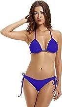 zeraca Women's Tie Side Bottom Triangle Bikini Swimsuits