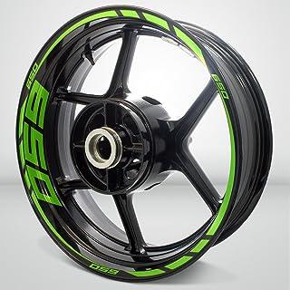 Gloss Light Green Motorcycle Rim Wheel Decal Accessory Sticker for Kawasaki Ninja 650