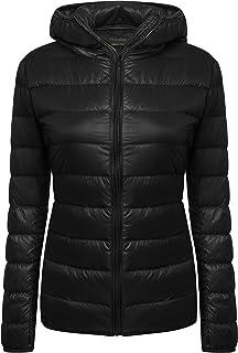 Yidarton Women's Lightweight Packable Hooded Coat Outwear Puffer Down Jacket