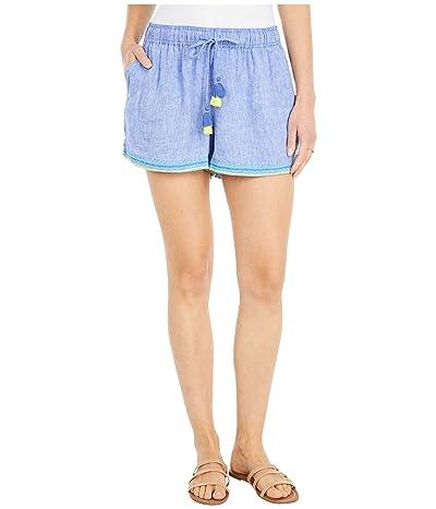 Vineyard Vines Linen Embroidered Pull-On Shorts (Marlin) Women