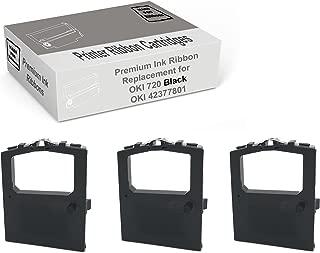 Mars POS Ribbons Compatible with Oki Microline 420 Okidata 42377801 (Black, 3 Pack)