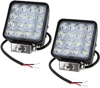 Leetop 6X 18W LED Lampara de Coche Iluminacion de Trabajo Foco de Luces Iluminacion de Coche Cabina Barco Truck Coches Veh/ículos Todo Terreno Pesca