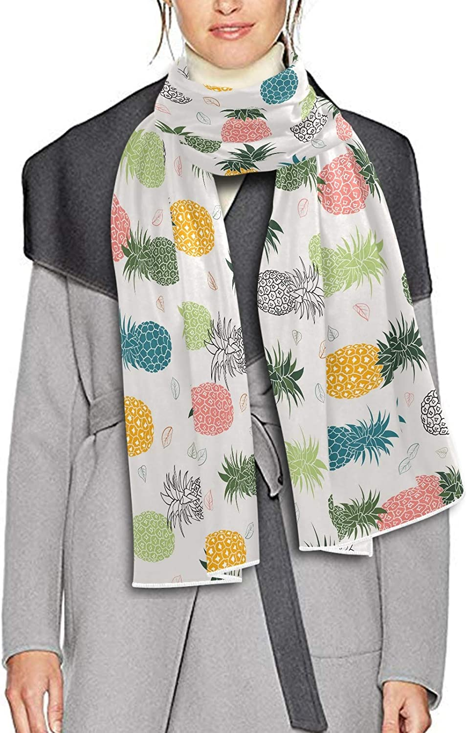 Scarf for Women and Men Pineapple Leaves Blanket Shawl Scarves Wraps Warm soft Winter Long Scarves Lightweight