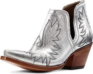 حذاء حريمي غربي من ARIAT فضي معدني