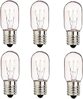 """6 Pack 40 Watts Microwave Replacement Bulbs for Most Ge Ovens Replaces Part WB36X10003  40T8 Fits Intermediate E17 Base for Appliance Light Bulb MOL 2.5 """""""