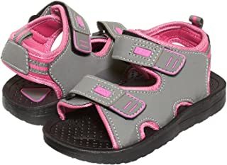 1f52c62299c163 Skysole Girls Double Adjustable Strap Lightweight Sandals Grey   Pink (See  More Colors and Sizes
