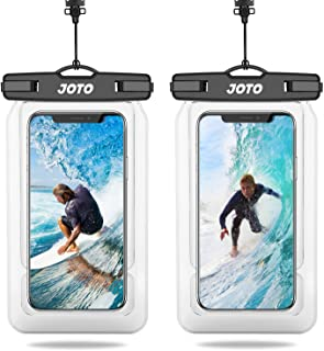 """JOTO Floating Waterproof Phone Pouch, Universal Waterproof Case Underwater Dry Bag for iPhone 11 Pro Max XS Max XR X 8 7 Plus Galaxy Pixel up to 6.8"""" for Pool Beach Swimming Kayak Travel -2 Pcs, Clear"""