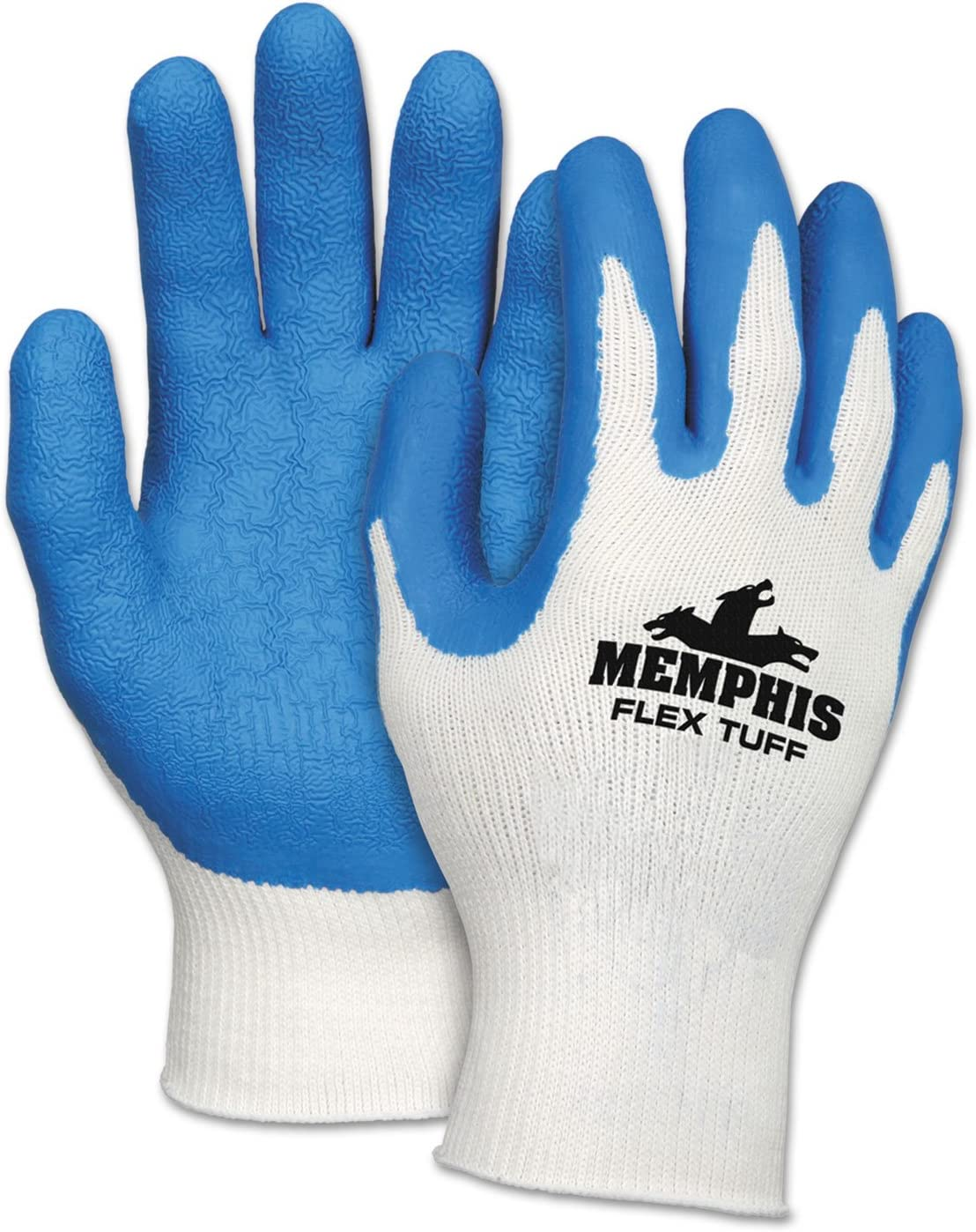MCR Safety Directly managed store 9680L Flex Tuff Work 10 Blue White Colorado Springs Mall Large ga Gloves