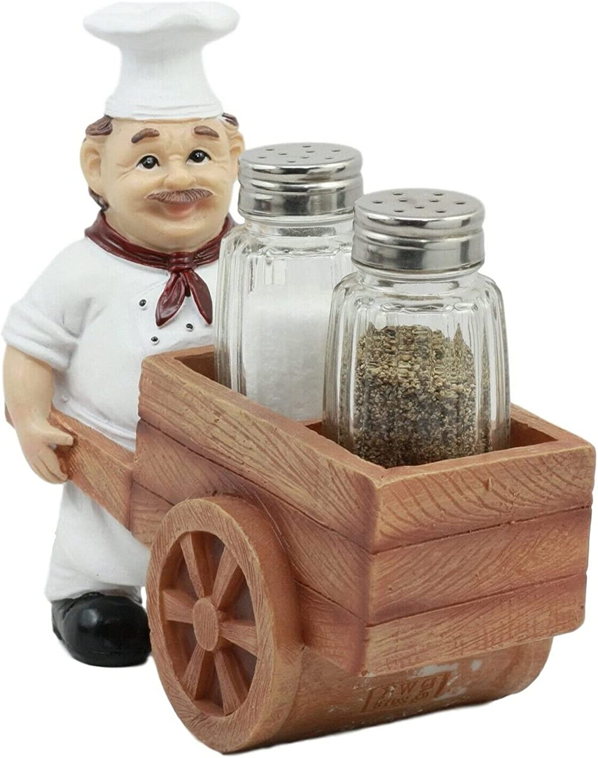 New Spice A La Popular brand in the world Carte Chef Salt and Wheelbarrow Pushing lowest price Pepp Cart
