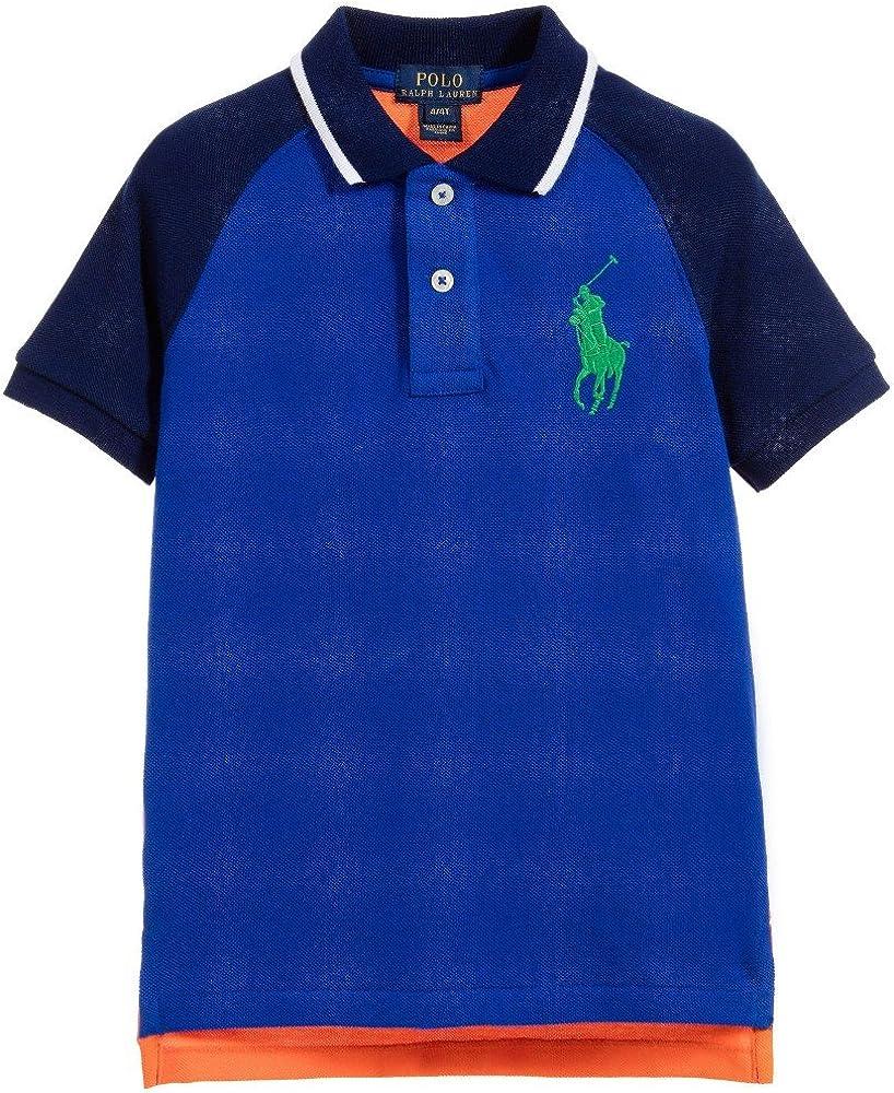 Ralph Lauren Boys Big Pony Colorblocked Polo Shirt