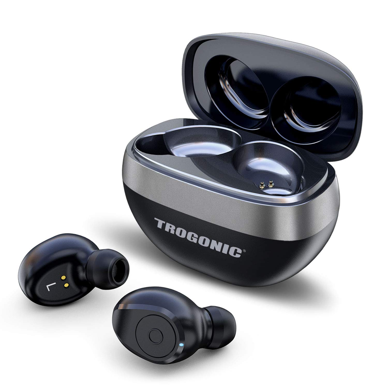 Amazon Com Trogonic Te1 True Wireless Earbuds Tws 5 0 Ipx 5 Sweatproof Bluetooth Earbuds Stereo Headphones In Ear Built In Mic Headset Premium Sound With Deep Bass For Sport Electronics