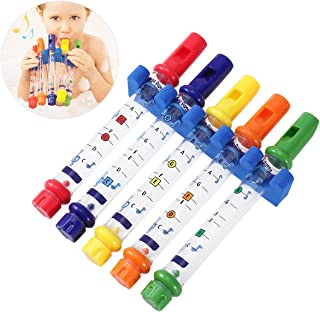 NUOLUX 5pcs Bath Water Flutes Bathing Toys for Baby