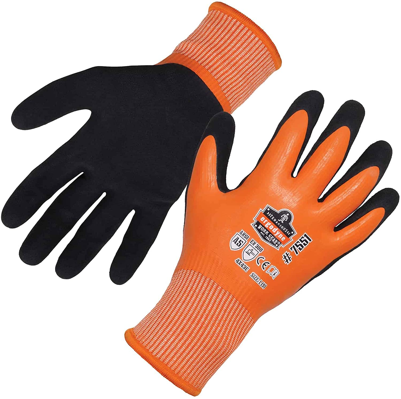 Ergodyne ProFlex 7551 Coated Waterproof Winter Work Gloves - A5 Cut-Resistant