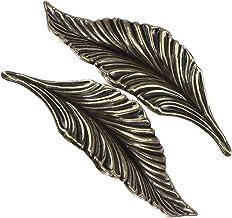 Angoily 2 Stuks Bladvorm Lade Knoppen En Trekt Decoratieve Lade Dressoir Knoppen Voor Keuken Meubels Deur Dresser Closet G...