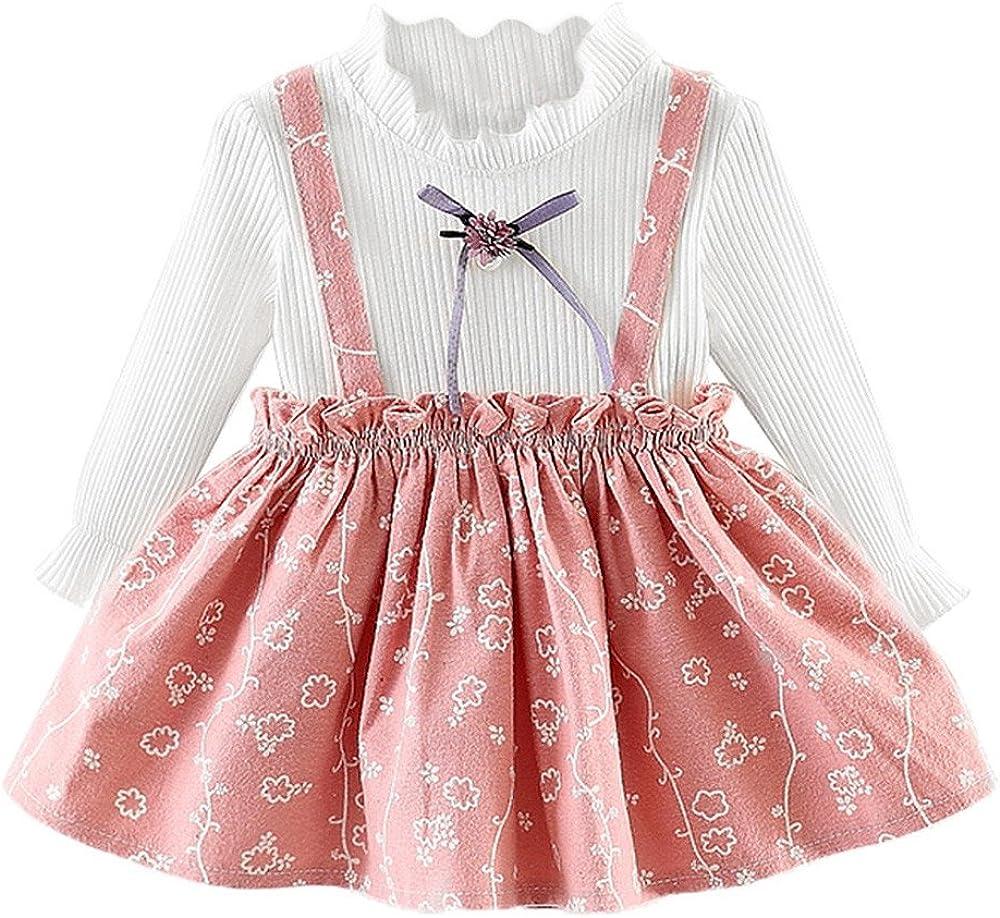 Amazon.com: XUANOU Girls Long Sleeve Floral Princess Dress Toddler