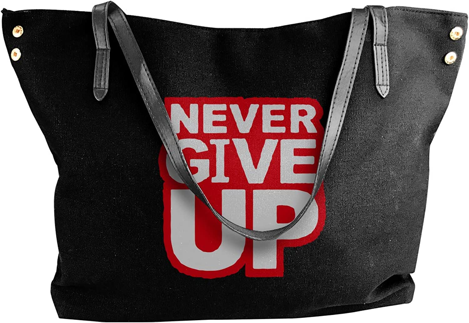 Never Give Up Women'S Casual Canvas Shoulder Bag For Work Work Bag