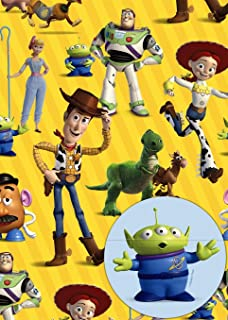 Toy Story 4 Gift Wrap 2 Sheets and 2 Gift Tags