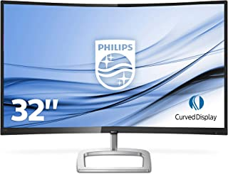 Philips 328E9QJAB/00 80cm Curved LCD Monitor, Black/Silver