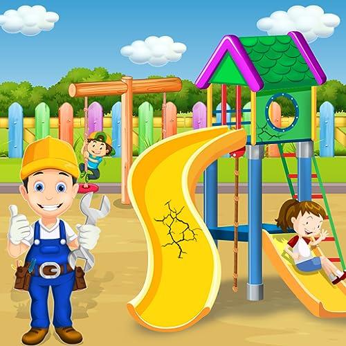 Parkreinigungsspiele: Vergnügungsparkspiele | Spielplatz aufräumen | Reparatur von Wasserparks | Parkreparatur | Park Makeover | Unordentliche Hausreinigung | Grüne Rasenreinigung | Reinigungsspiele f