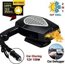 【New Upgrade】Portable Car Heater Defogger, Car 12V lighter heater 30 Second Fast Heating Defrost Defogger Cooling Plug in Car Cig Lighter Demister, 2 in 1 Auto Ceramic Heate Plug In Cig Lighter(Black)