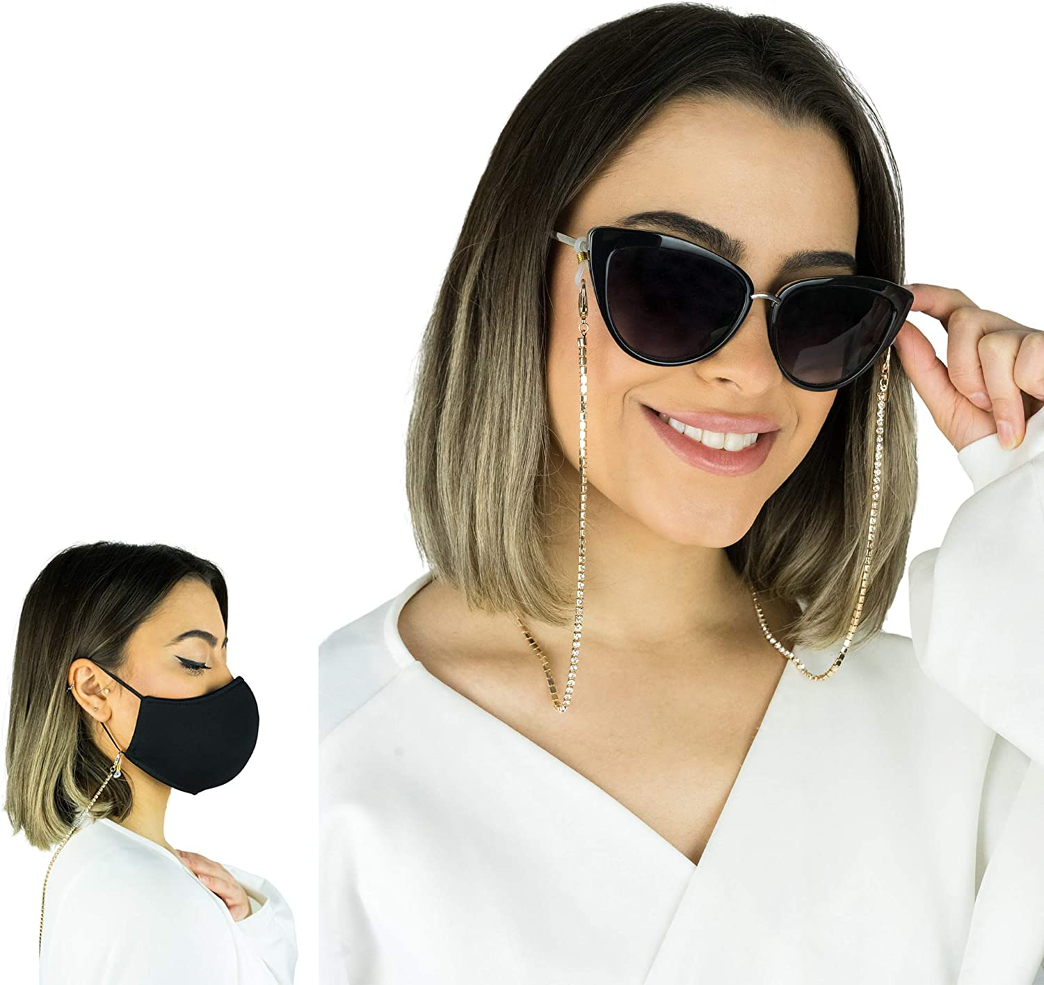 NINA Vibes 2in1 Trendy face mask chain  Eye glasses chain for w