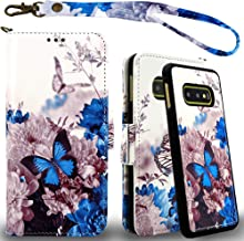 Mefon Galaxy S10e Wallet Case Leather Detachable, Durable Slim, Enhanced Magnetic Closure, with Wrist Strap, Card Slot, Ki...