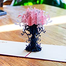 Paper Spiritz Flowers Pop up Cards Birthday, Christmas, 3D Anniversary Thank You Card for Husband Wife, Handmade Graduation Sympathy Blank Card, Laser Cut Gift Card with Envelopes All Occasions