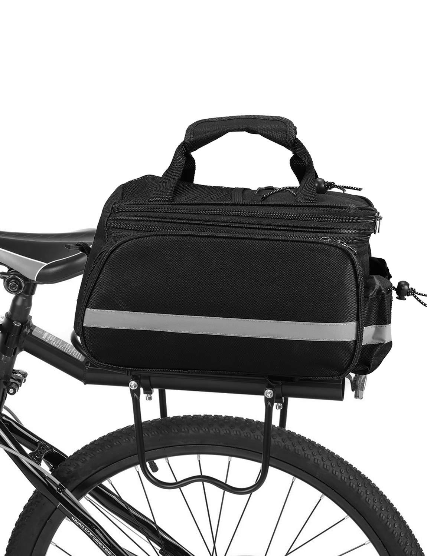 Lixada Alforja Bicicleta Bolsa de Sillín Ciclismo Tronco Pack Bolsa de Transporte para MTB Bicicleta Bicicleta de Carretera: Amazon.es: Deportes y aire libre