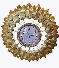 ساعة انيقة على شكل أوراق شجر لون ذهبي