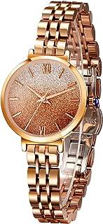 Sponsored Ad - SURVAN WatchDesigner Japanese Quartz Fashion Wrist Watch for Women 18k Yellow Gold Ion-Plated Stainless Ste...
