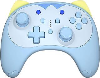IINE Cartoon Kitten Wireless Controller for Nintendo Switch/Lite Blue,Small Size