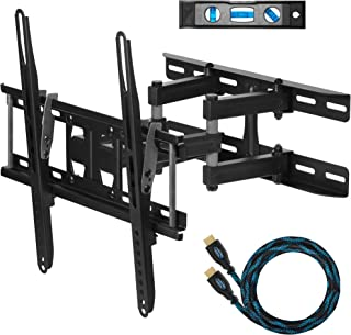 "Cheetah Mounts Dual Articulating Arm TV Wall Mount Bracket for 20-65"" TVs up to VESA 400 and 115lbs, Mounts on Studs up to..."