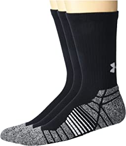 Under Armour Youth Boys No Show Socks Large 1-4 Red Gray Blk Charg Cotton 6 Pair