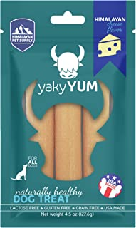 yakyYum Himalaya Cheese Treats | Lactose Free | Gluten Free | Grain Free | Made in USA | For All Breeds | Cheese Flavor