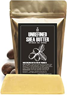 Unrefined SHEA BUTTER Bar, Amazing Moisturizer, Use Alone or in DIY Body Butters, Soaps, Lotions, lip balm ...