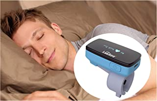 LOOKEE Sleep-Ring Oxygen Tracker with Notification for Low O2 Saturation Level and Heart Rate, Free APP Report for Overnight Sleep Insights. for Wellness, Sports and Aviation use only