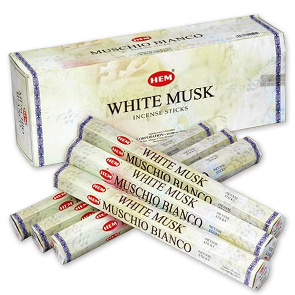 半球ヒステリック貸し手HEM(ヘム) ホワイト?ムスク WHITE-MUSK スティックタイプ お香 6筒 セット [並行輸入品]