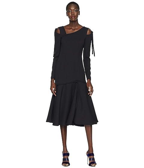 Prabal Gurung Gioia Long Sleeve Cut Out Dress
