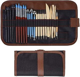 Outil en céramique 24 pièces ensemble d'outils de modélisation d'outils d'argile, outil de potier pour l'argile en céramiq...