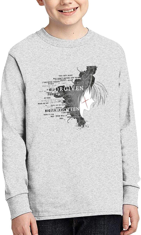 Teen Boys' Cotton 3D Printed Comfty Crewneck Long Sleeve T Shirts Anime Graphic Tee Shirt Tops
