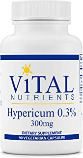 Vital Nutrients - Hypericum Extract 0.3% 300 mg - Extract of St. John's Wort - Promotes Emotional Well-Being & Mood Support - 90 Capsules per Bottle