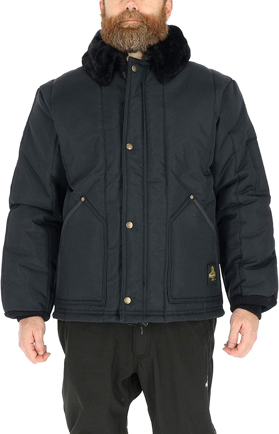 RefrigiWear Water-Resistant Insulated Iron-Tuff Arctic Jacket with Soft Fleece Collar