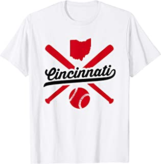 Cincinnati Baseball Vintage Ohio Pride Red Love City T-Shirt