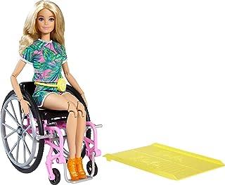 Mattel - Barbie Wheelchair Doll and Accessory, Long Blonde Hair