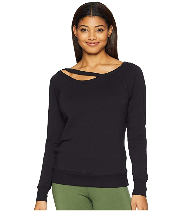Jockey Active Lean in Sweatshirt (Deep Black) Women